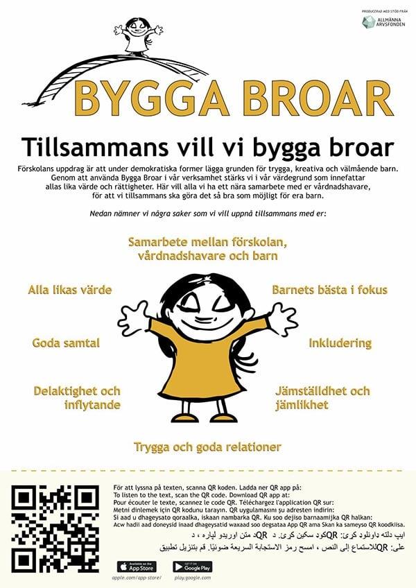affisch bygga broar